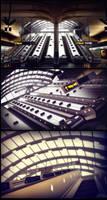 Canary Wharf Station by xsekox