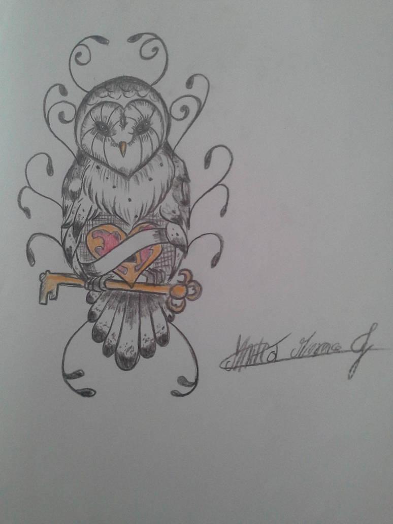 Kawaii Owl Tattoo New School By Jiochiki On Deviantart