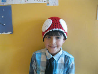 Supero Mario Bros Mushroom Hat by pootoo