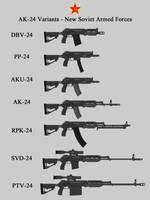 AK-24 Variants (New USSR, Crimson Dawn) by RedRich1917