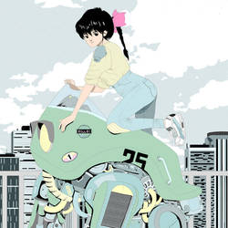 Robo and girl by catlee