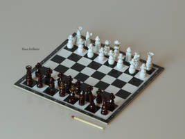 Miniature chess for BJD by EleanHellkatie