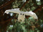 Poseable art doll albino owl by EleanHellkatie