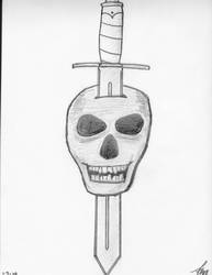 skull dagger by bloodyrose456