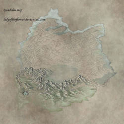 Gondolin map in progress by SaMo-art