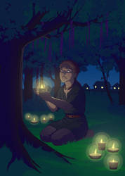 Candles and Trees by kokiri85
