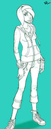 Girl Sketch Numero 4 by Kebikun