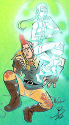 LOZ-SS Grosse and Impa by MaHut-MaHotTub-Light