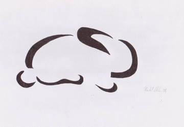 minimalist rabbit by abadelf01