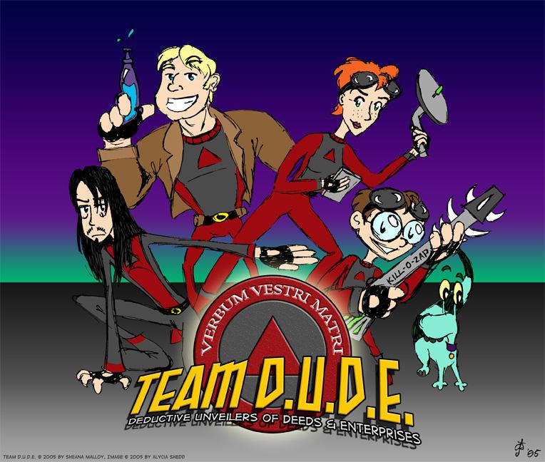 Team D.U.D.E. Posing - Colored by LeeshaJoy