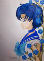 Sailor Mercury and Myosotis 2 by Elveariel