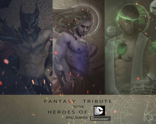 FANTASY TRIBUTE TO THE HEROES OF DC COMICS by renz-rubpen