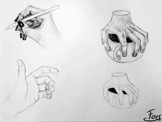 Hand study throwback by ForsThenebriss
