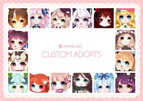 Custom Adoptable Commission [CLOSED] by Shiina-Yuki