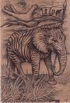 Zebraphant by bedowynn