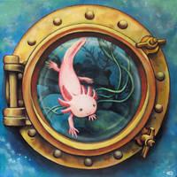 Axolotl Tank by bedowynn