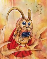 Heroic Horned Owl by bedowynn