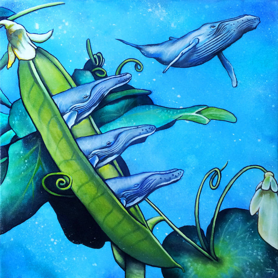 Pod Of Whales by bedowynn
