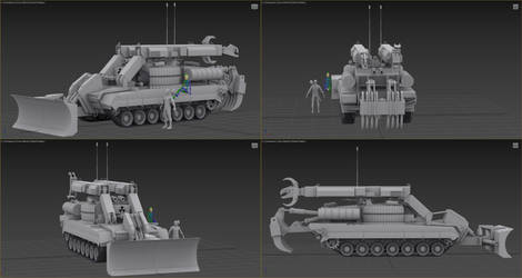 IMR - combat engineering vehicle  W.I.P. 2 by Yaskolkov