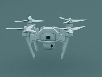 Quadrocopter drone by Yaskolkov