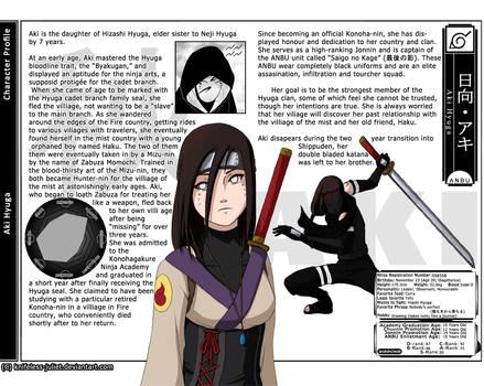 Naruto - Aki Hyuga OC Sheet by ThirdEcho