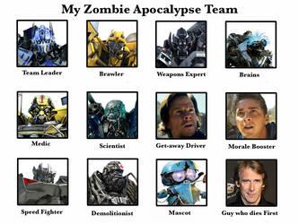 my Zombie Apocalypse team by BaconDood
