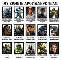 My Ultimate Zombie Apocalypse team by BaconDood