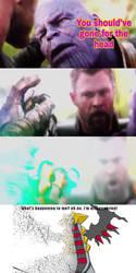 Thanos Disintegrates Giratina-The-best by BaconDood