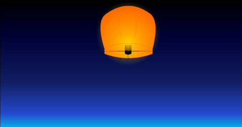 Chinese Lantern in the Sky by MartmeisterPaladin