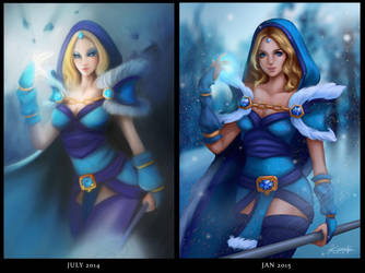 Crystal Maiden - before and after by Kunniki