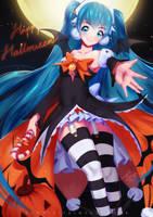 Halloween hatsune miku!  by Kunniki