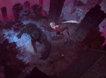 Witcher 3 fanart by Samkaat