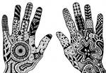 Doodle hands by TinyAna