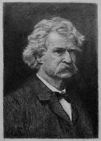 Mark Twain on Artist Trading Card by TinyAna
