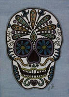 Sugar Skull on ATC by TinyAna