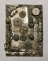 Steampunk inspired ATC #2 by TinyAna