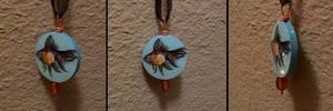 Handmade goldfish paper pendant by TinyAna