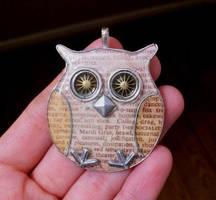 Handmade Owl Pendant by TinyAna