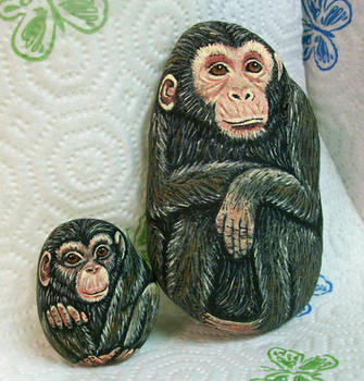 Chimp Rocks by TinyAna