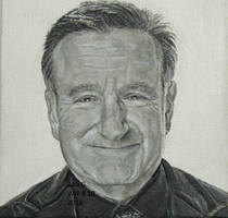 Robin Williams acrylic painting on canvas by TinyAna
