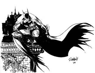Batman sketch by RyanOdagawa