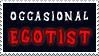 Occasional egotist -stamp by Sysirauta