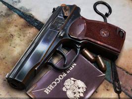 Makarov-Russian service pistol by VladiT