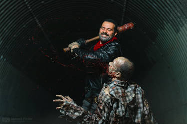 The Walking Dead - Negan and The Walker by TripdWyr