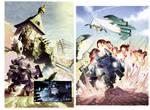 Dust Wars splash pages colors by Nezart