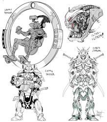 Sci-fi character mix. by Nezart