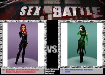 Marvel battle Black Widow vs Mantis by Mary-Margret