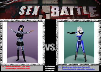 DC comics battle Blackfire vs Killer Frost by Mary-Margret