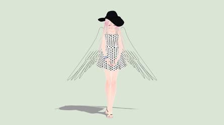 [MMD] Summer Angel IA by piegirl333