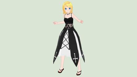 [MMD] Summer Gothic Rin by piegirl333